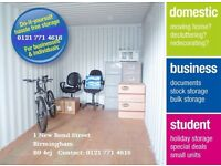 Self Storage Birmingham City Centre at reduced rent for Christmas Hurry up limited time offer