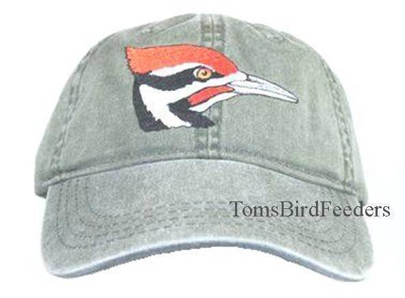 Pileated Woodpecker Embroidered Cotton Cap NEW Hat Bird