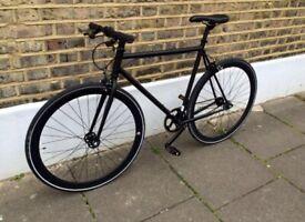Bicycle Teman Matt Black Single Speed Fixie