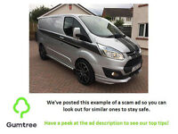 FORD TRANSIT CUSTOM LIMITED VAN -- Read the description before replying!!