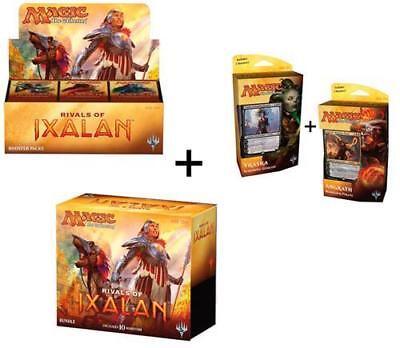 Magic Rivals Of Ixalan Set: Booster Box + Bundle + Both Planeswalker Decks!
