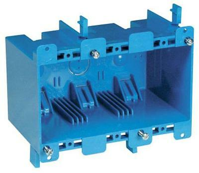 Carlon B355r Pvc 3 Gang Outlet Box Old Work Blue 55.0 Cu. In.