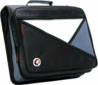 Case-it Universal 2-inch 3-ring Zipper Binder Holds 13 Inch Laptop Black Lt-0