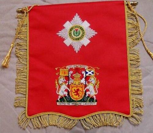 UK Medieval Britain Scotland Royal Knight Merit Award Order Thistle Banner Flag