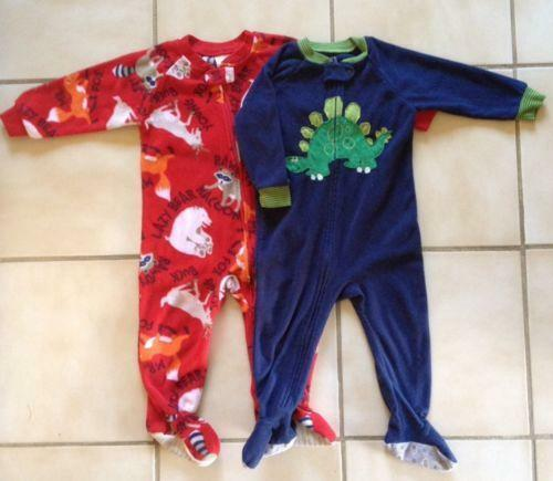 Boys 18 Month Footed Pajamas Ebay