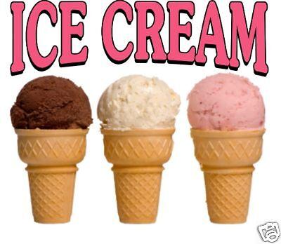 Ice Cream Decal 12 Cones Concession Restaurant Food Truck Vinyl Sticker