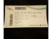 Drake - The Boy Meets World Tour - Standing - 22nd Feb - Birmingham Barclays Arena x4