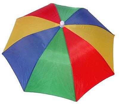 4 Pack Umbrella Hat Cap Hands Free Head Strap for Sun Rain R