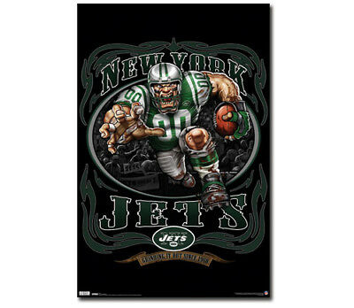 Rare New York Jets GRINDING IT OUT SINCE 1960 NFL Theme Art Logo POSTER (Nfl Theme)