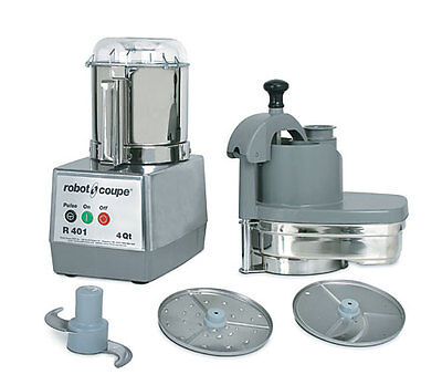 Robot Coupe R401 Combination Continuous Feed Food Processor W 4.5 Qt. Gray Bowl