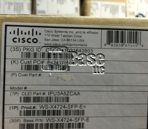 **new Sealed** Cisco Ws-x4724-sfp-e Cisco Catalyst 4500e Series 24-port Ge (sfp)