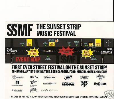 Sunset Strip Music Festival Card. Marilyn Manson, Ozzy, Toy Guns, Nico Vega](Music Festival Toys)