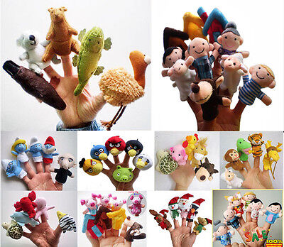 - The variety Optional Baby Kids Educational toy Finger Puppet plush toys boy girl