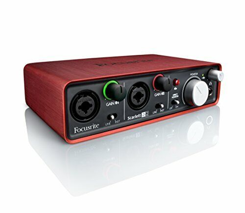 USB Recording Audio Interface w/ Quality Mic Preamps & Direct Monitor Function