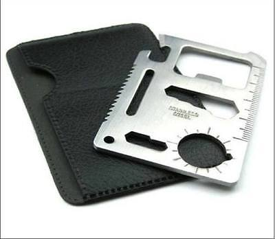 lot 100 50 10 11 in 1 Multi Tool Hunting Survival Camping Military Card Knife  ()