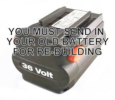 Re-build service for Hilti B 36 NiCd 36v Battery Pack