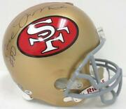 Joe Montana Signed Full Size Helmet