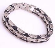 Men s Silver Stainless Steel Bracelet Bangle