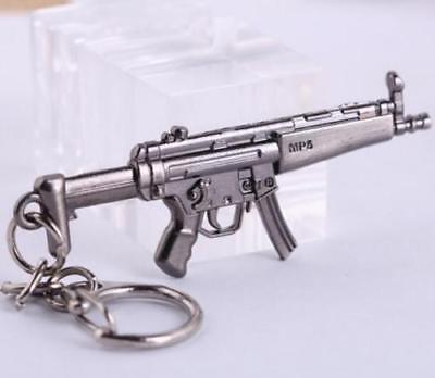 Cross Fire CF Submachine Gun KeyRing MP5 Cool Miniature Weapon Model Keychain ^ - Cross Key Chains