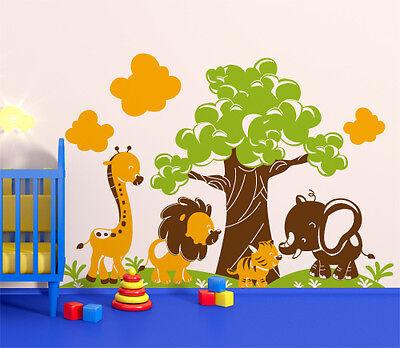 00853 Wall Stickers Pegatinas Adhesivos Pared Murales Decorativos Niñera Safari