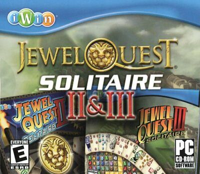 Computer Games - Jewel Quest Solitaire II & III PC Games Windows 10 8 7 XP Computer 2 and 3 NEW