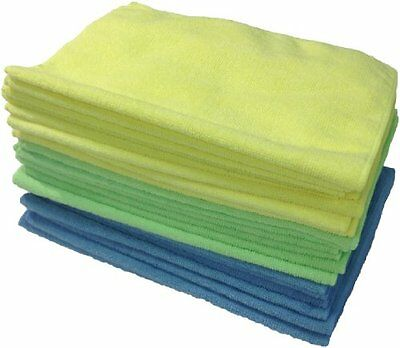 24-Pack Microfiber Cleaning Cloth Anti-Scratch Rag Towel Car Detailing Polishing