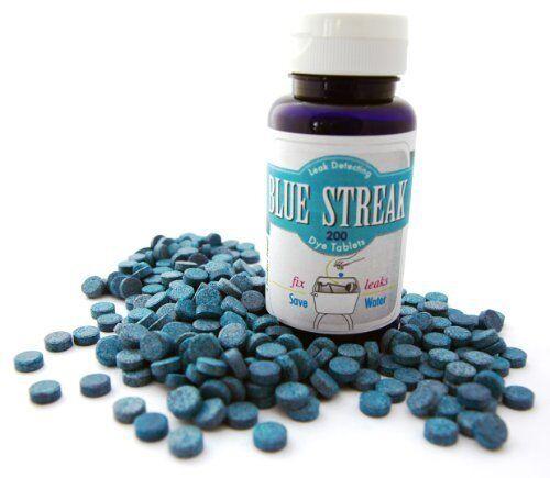 Blue Streak Pro 200 Dye Toilet Leak Detector Detection Tablets Detect Leaks Bulk