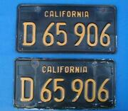 California License Plates Pair