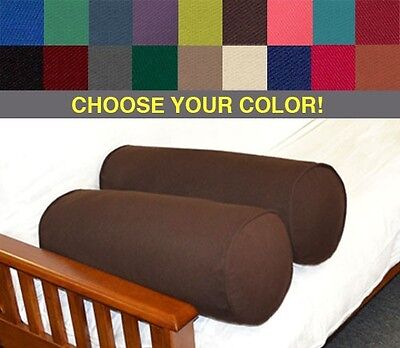 Futon Bolster Pillow - Set of Two Bolster Pillows - Your Choice of Color