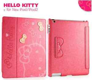 New Hello Kitty Smart Cover Leather Stand Case Cover For iPad 2 3 4