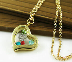 Memory Locket Necklace Gold or Silver Birthday Party Gift