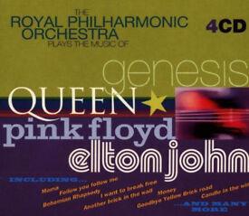 RPO Plays The Music Of Queen,Genesis,Pink Floyd & Elton John 4CD Box Set (New Sealed) - Just £2