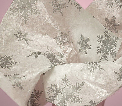 Pearl Silver Snowflake ~ Christmas Tissue Paper # 783 ~ 10 Large Sheets ](Christmas Tissue Paper)