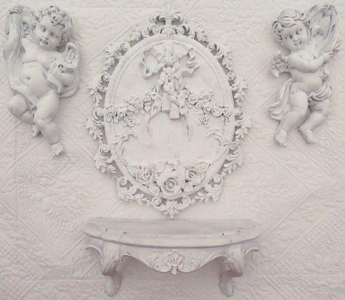 Shabby chic wall decor ebay for Shabby chic wall art