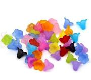 Frosted Acrylic Flower Beads