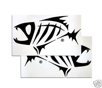 935b6cce G. LOOMIS SKELETON FISH BOAT STICKER SET - BLACK