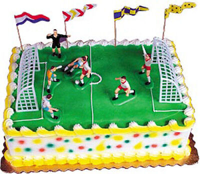 Soccer Match Cake Decorating Kit Decoration Topper Birthday Party Supplies (Birthday Cake Supplies)