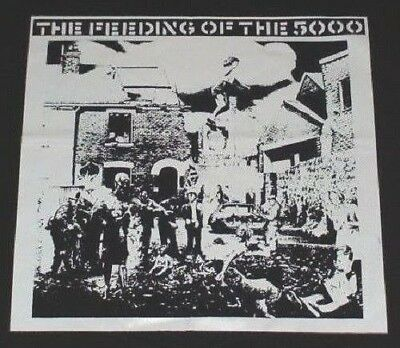 CRASS The Feeding Of The 5000 big back patch anarcho punk - The Feeding Of The 5000
