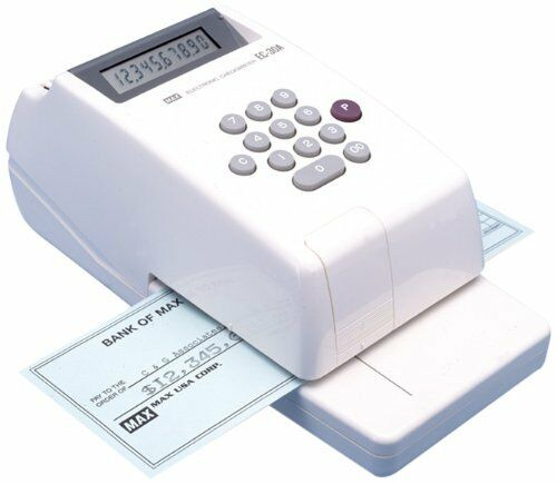 Max Electronic Checkwriter - 10 Digits / 1 Column - Personal, Business -