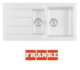 White Franke Tectonite Reversable 1.5 Kitchen Sink & Waste (graded)