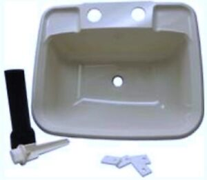 Boat Rv Mobile Home Sink Includes Drain And Pipe White Made In USA!