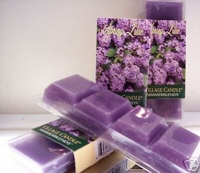 Village Candle 3pc lot Simmer Blends /Tart SPRING LILAC * FREE USA SHIPPING