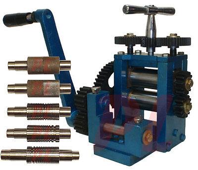 7 Dies 3 80 Mm Rolling Roller Mill Sheet Metal Wire Flat Pattern 5 Gauge
