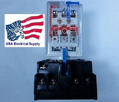 New Relay 11Pin Coil 12VDC 10A/5A 220VAC/28VDC With Socket Base 7A 250V 11-pin Relay Socket