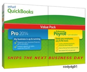 QuickBooks Pro with Enhanced Payroll 2014 Value Pack - NEW AND SEALED QUICKBOOKS