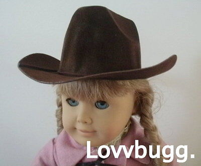 "Lovvbugg Brown Cowboy Hat for 15-18 "" American Girl Doll Clothes"