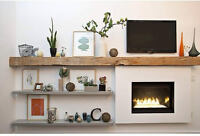 Barn Beam Fireplace Mantel - made from authentic reclaimed wood