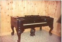** Faite Offre ** 100 ans Square Grand Piano Valeur $3,500-6,500