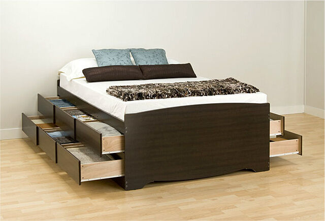 Bed Frames for Queen Size Beds with Storage Tall Captain Sto