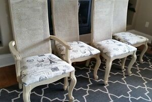 French Provincial Set of Painted Chairs- Must See!!